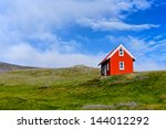 Beautiful Red House Against Th...