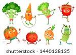 cartoon vegetables fitness....   Shutterstock .eps vector #1440128135