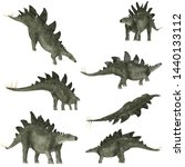 3d illustration about dinosaur  ... | Shutterstock . vector #1440133112