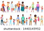cartoon people carrying... | Shutterstock . vector #1440145952