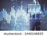 forex graph with businessman...   Shutterstock . vector #1440148835