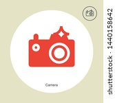 camera icon in trendy design...