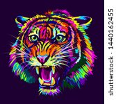 growling tiger. abstract ... | Shutterstock .eps vector #1440162455