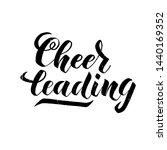 cheerleading  lettering text on ... | Shutterstock .eps vector #1440169352