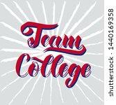 cheerleading team college... | Shutterstock .eps vector #1440169358