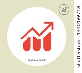 business growth icon in trendy...