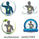 healthy spine symbol. can be... | Shutterstock .eps vector #144017095