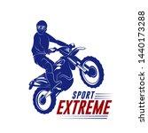 Motocross Jump Logo Vector....