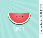 summer watermelon | Shutterstock .eps vector #144017572