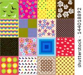 patchwork background with... | Shutterstock .eps vector #144018892
