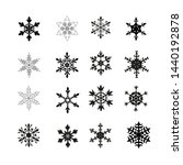 black snowflakes silhouettes....   Shutterstock .eps vector #1440192878