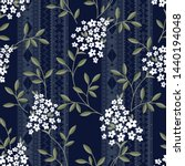 seamless floral and ethic ... | Shutterstock .eps vector #1440194048