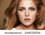 close up portrait of beautiful...   Shutterstock . vector #144020056