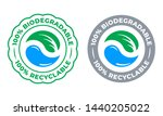 biodegradable recyclable 100... | Shutterstock .eps vector #1440205022
