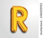 gold metallic helium alphabet... | Shutterstock .eps vector #1440205952