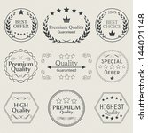 collection of premium quality... | Shutterstock . vector #144021148