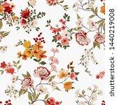 Flower Print Elegance Seamless...