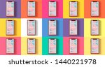 mobile mock up flat style post...