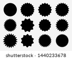 sunburst label icons. promo... | Shutterstock .eps vector #1440233678