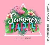 summer beach party typography...   Shutterstock .eps vector #1440245942