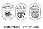 money oil bottle labels  ... | Shutterstock .eps vector #1440247082