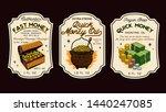 money oil bottle labels  ... | Shutterstock .eps vector #1440247085