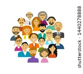 group of people  background for ... | Shutterstock .eps vector #1440278888