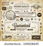 vector set of calligraphic... | Shutterstock .eps vector #144028645