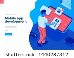 mobile app development... | Shutterstock .eps vector #1440287312