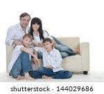 portrait of the european family ...   Shutterstock . vector #144029686