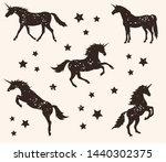 vector flat black old vintage... | Shutterstock .eps vector #1440302375