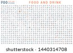 set of vector line icons of... | Shutterstock .eps vector #1440314708