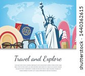 travel composition with travel... | Shutterstock .eps vector #1440362615