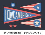 set symbols usa. vintage retro... | Shutterstock .eps vector #1440369758