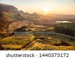 the quiraing walk in skye ... | Shutterstock . vector #1440373172