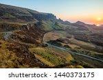 the quiraing walk in skye ... | Shutterstock . vector #1440373175