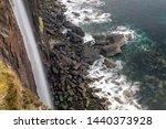 kilt rock in skye  scotland. | Shutterstock . vector #1440373928