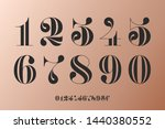 font of numbers in classical... | Shutterstock . vector #1440380552