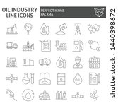 oil industry thin line icon set ... | Shutterstock .eps vector #1440398672