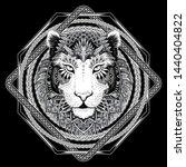 vector black and white tattoo... | Shutterstock .eps vector #1440404822
