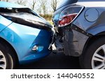 two cars involved in traffic... | Shutterstock . vector #144040552