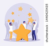 business people celebrating... | Shutterstock .eps vector #1440425435
