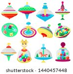 top toy vector kids whirligig... | Shutterstock .eps vector #1440457448