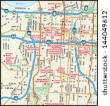 kansas city  missouri downtown...   Shutterstock .eps vector #144049612
