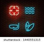 neon life buoy  water  diving... | Shutterstock .eps vector #1440551315