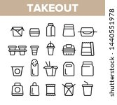 takeout food vector thin line... | Shutterstock .eps vector #1440551978
