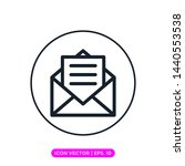 mail icon vector design template