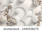 3d flowers abstraction. photo... | Shutterstock . vector #1440558275