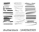 black strokes set. doodles ... | Shutterstock .eps vector #1440565505