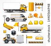 transportation elements on... | Shutterstock . vector #1440566948